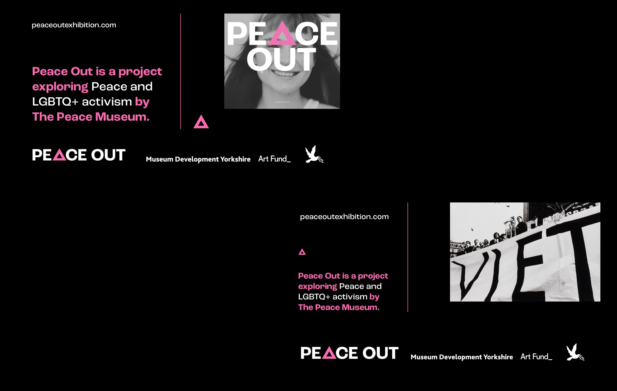 Peace Out Social Media banner designs